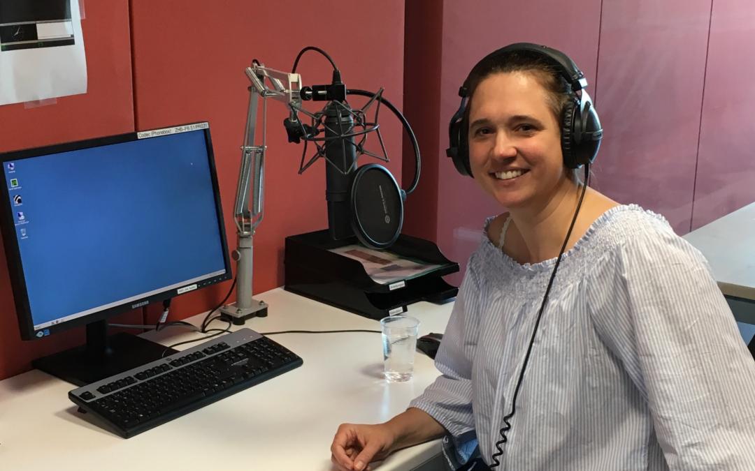 Karine Paulon im Radio Studio