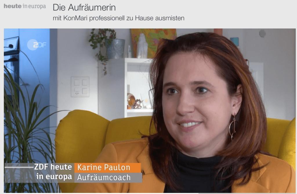 Karine Paulon in der Sendung Heute in Europa